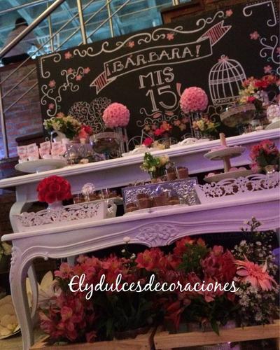 decoraciones bodas,15 años, comuniones, bautizos, candy bar