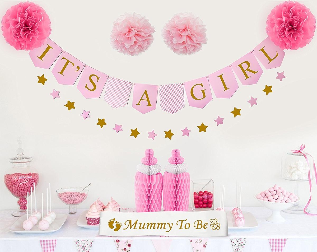 Decoraciones de baby shower para ni a es un tema de ni for Decoracion pared bebe nina