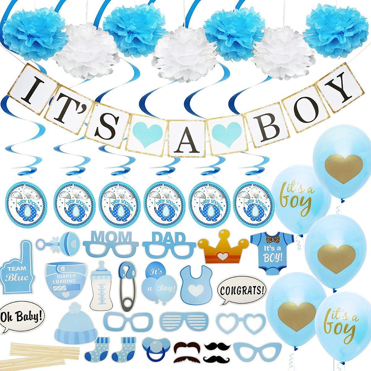 Decoraciones de baby shower para ni o incluye una pancar - Decoracion de baby shower nino ...