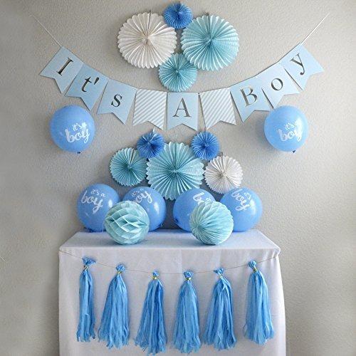 Decoraciones de la fiesta de bienvenida al beb para ni os for Decoracion pared bebe nino