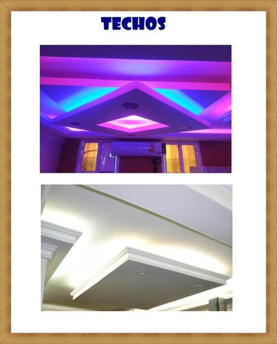 decoraciones en dry wall y escayola, paredes en 3d, pintura