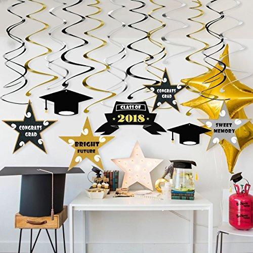 Decoraciones Graduación Pbpbox 30 Piezas Remolino Colgante