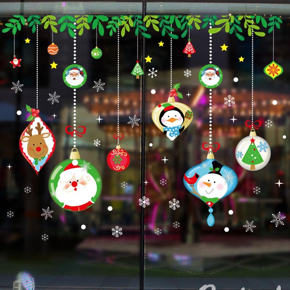 Decoraciones Navideñas Pegatinas Para Ventanas De Vidrio