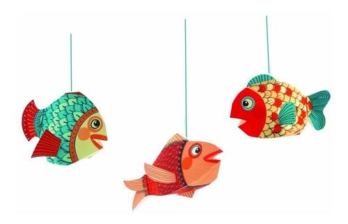 decoraciones para colgar peces - djeco -