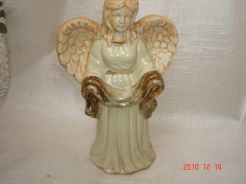 decoração antigo anjo porcelana faiança portuguesa biscuit