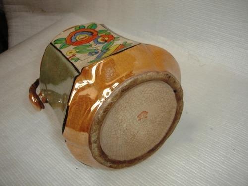 decoração antigo balde chinês casca de ovo alça bambu
