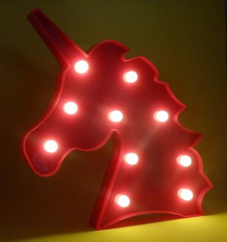 decoração cabeça unicórnio rosa enfeite luminária/abajur led