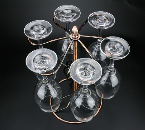decoração de casa criador cabeça para baixo taça rack copo d