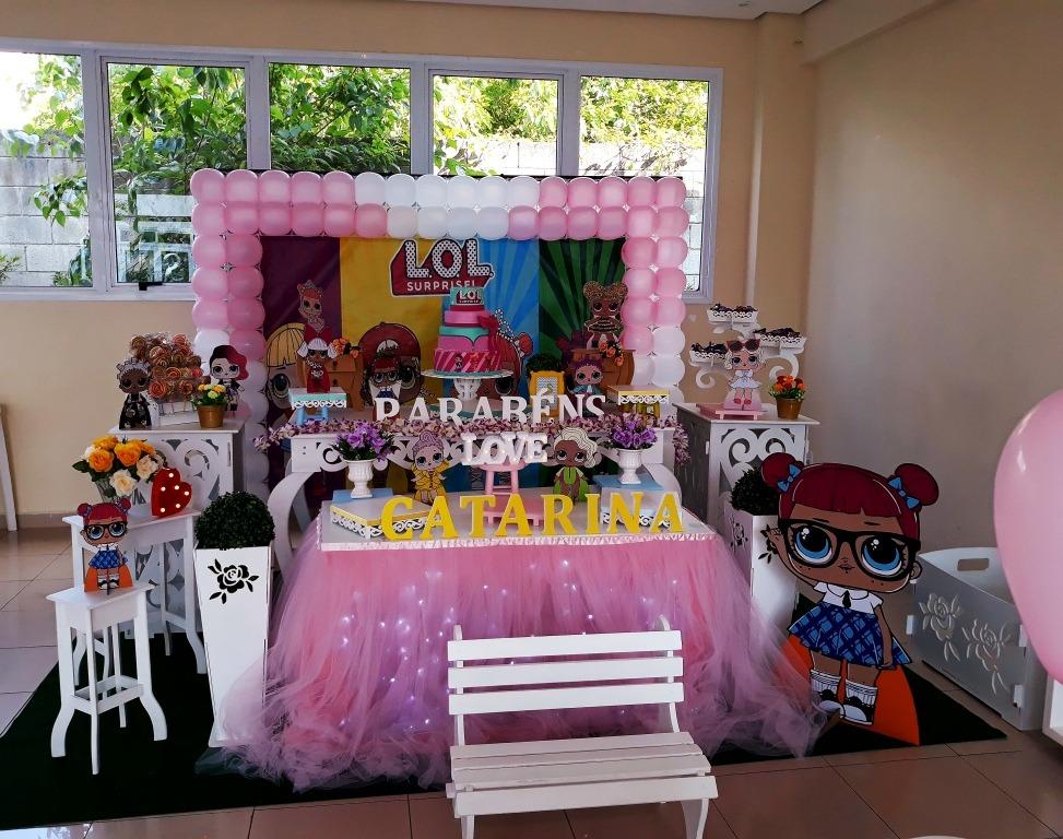Decoraç u00e3o De Festa Infantil Lol Surprise ( Aluguel) R$ 350,00 em Mercado Livre -> Decoração De Festa Lol Simples