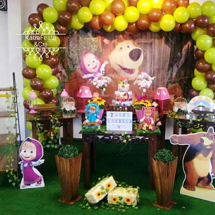 Decoração De Festa Masha E O Urso Linda Provençal R 39900 Em