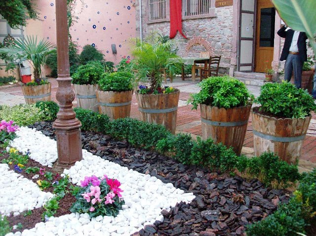 decoracao jardim vasos : Decora??o De Jardim Exterior Vasos / Casca De ?rvore 12050 ...