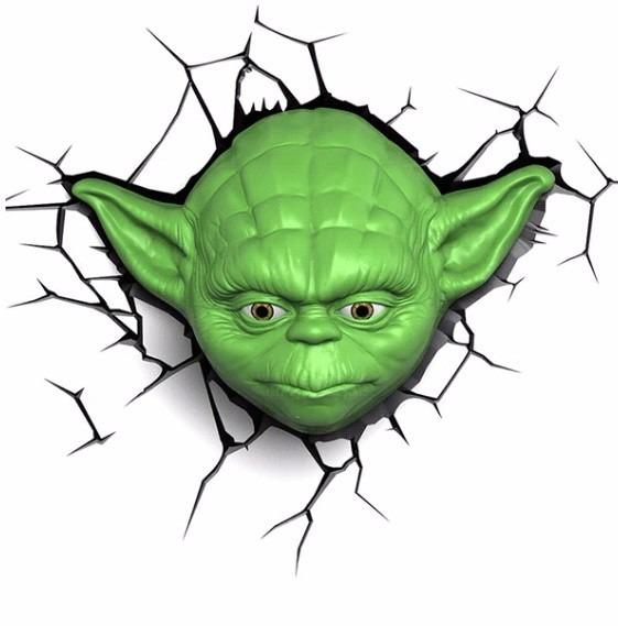 Aparador Sala De Jantar Moderno ~ Decoraç u00e3o De Parede 3 D Luminária Mestre Yoda Star Wars R$ 400,00 em Mercado Livre