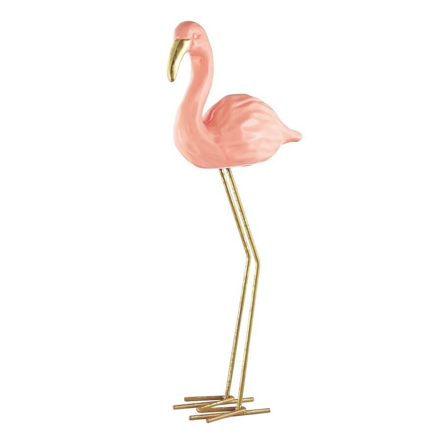 decoração enfeite casa pássaro flamingo cerâmica 25cm altura r 79