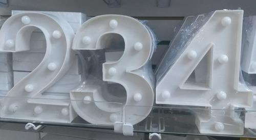decoração enfeite festa aniversário luminária de led números