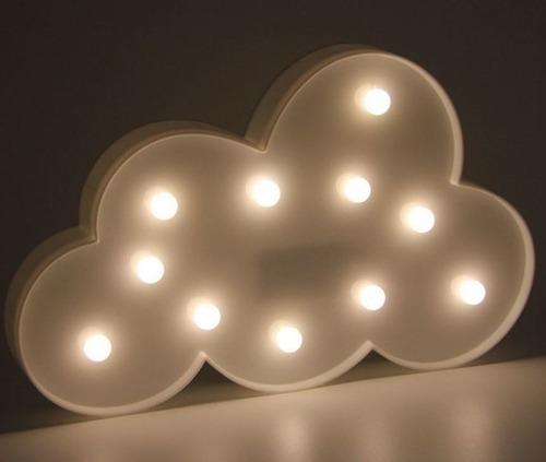 decoração enfeite luminária led nuvem festa chuva amor cores