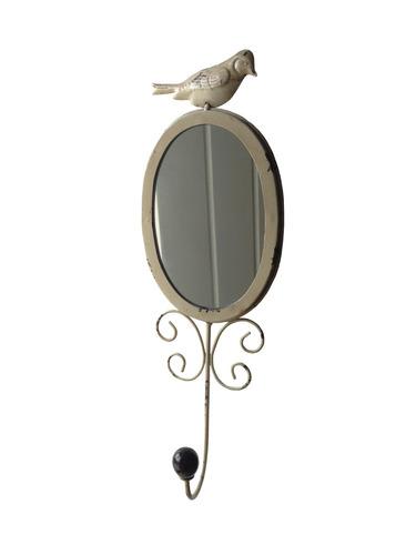 decoração - espelho de parede pequeno vintage quarto