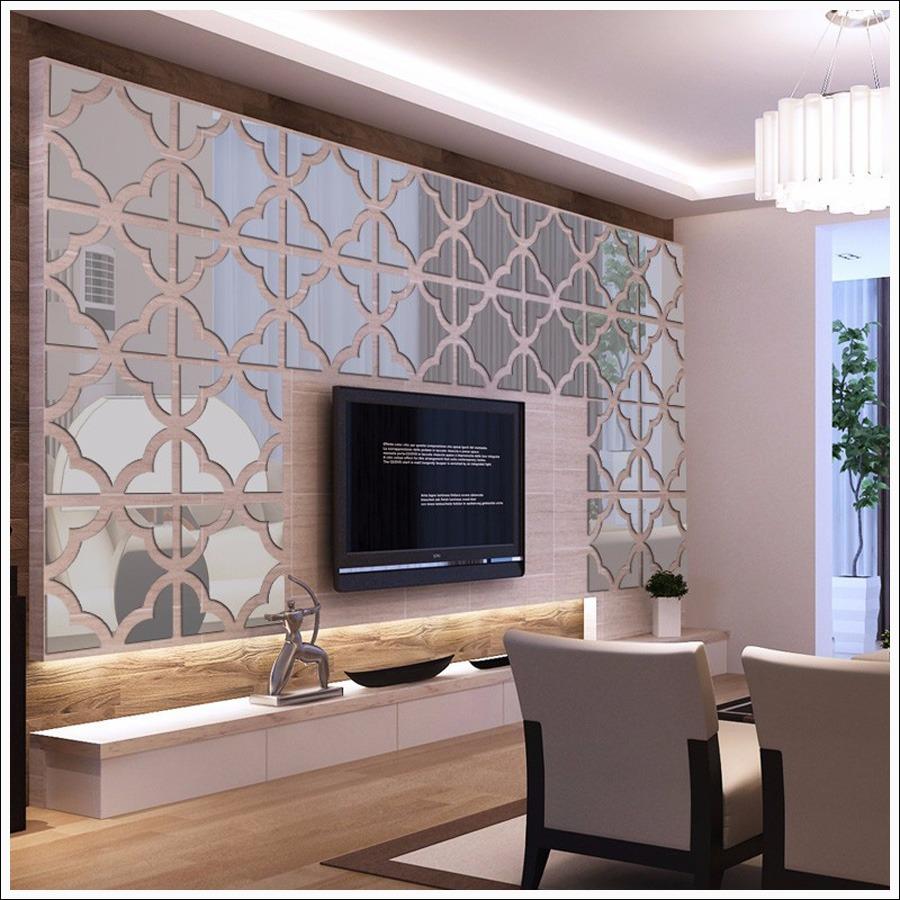 Decoração Espelhos De Parede Modelo Azulejos Tam 137x33 Cm