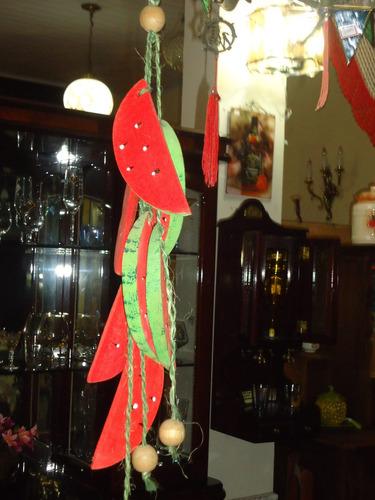 decoração fatias de melancia em madeira artesanato