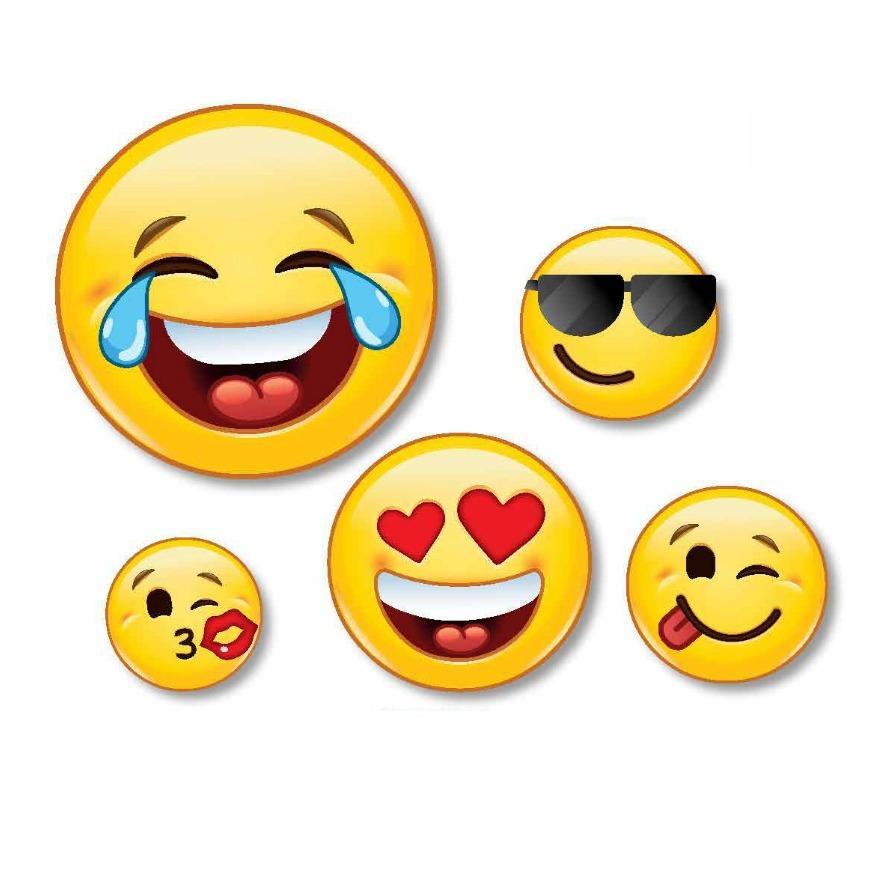 Armario Garaje Plastico ~ Decoraç u00e3o Festa Emoji Zap Zap 5 Carinhas Do Whatsapp R$ 16,90 em Mercado Livre