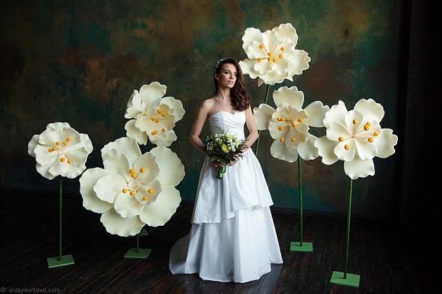 Decoraç u00e3o Festa Eva Flores Gigantes Casamento Eventos Fotos R$ 114,00 em Mercado Livre