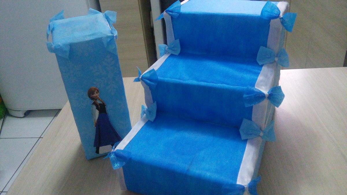 Decoração Festa Infantil Frozen Porta Docinhos Cupcackes R 1400