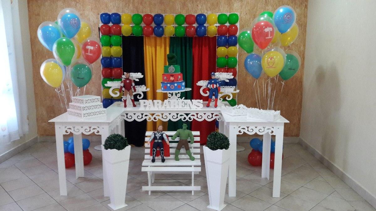 Decoraç u00e3o Festa Infantil Locaç u00e3o Provençal Tema Vingadores R$ 499,00 em Mercado Livre