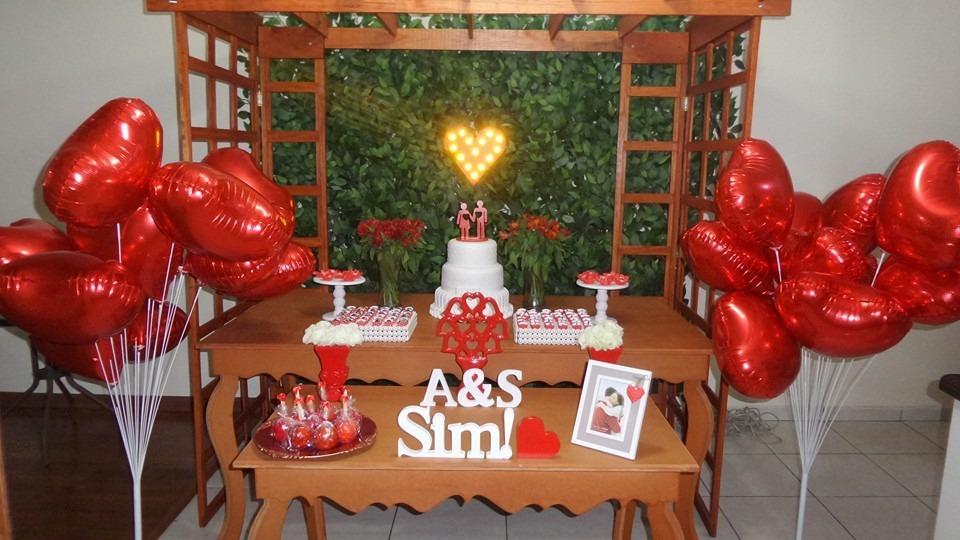 Decoraç u00e3o Festa Noivado Vermelho Para Locaç u00e3o R$ 500,00 em Mercado Livre -> Decoração De Noivado