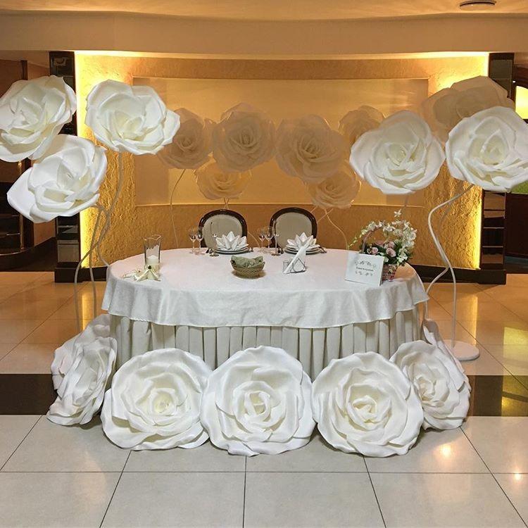 Decoraç u00e3o Flores Gigantes Casamento Festa Eva Eventos Kit 10 R$ 272,00 em Mercado Livre -> Decoração De Aniversário Com Flores Gigantes