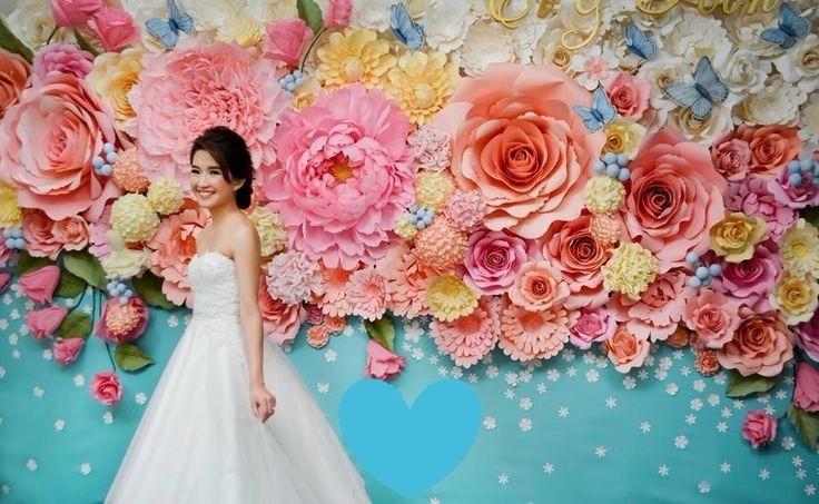 Decora o flores gigantes casamento festa eva eventos - Fotos gigantes para decorar paredes ...