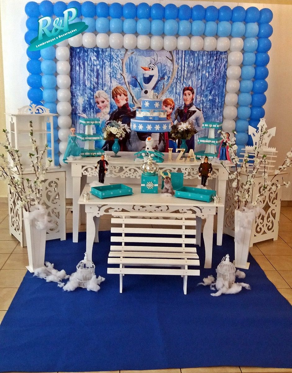 Decoração Frozen Luxo 2 Locação R 30000 Em Mercado Livre