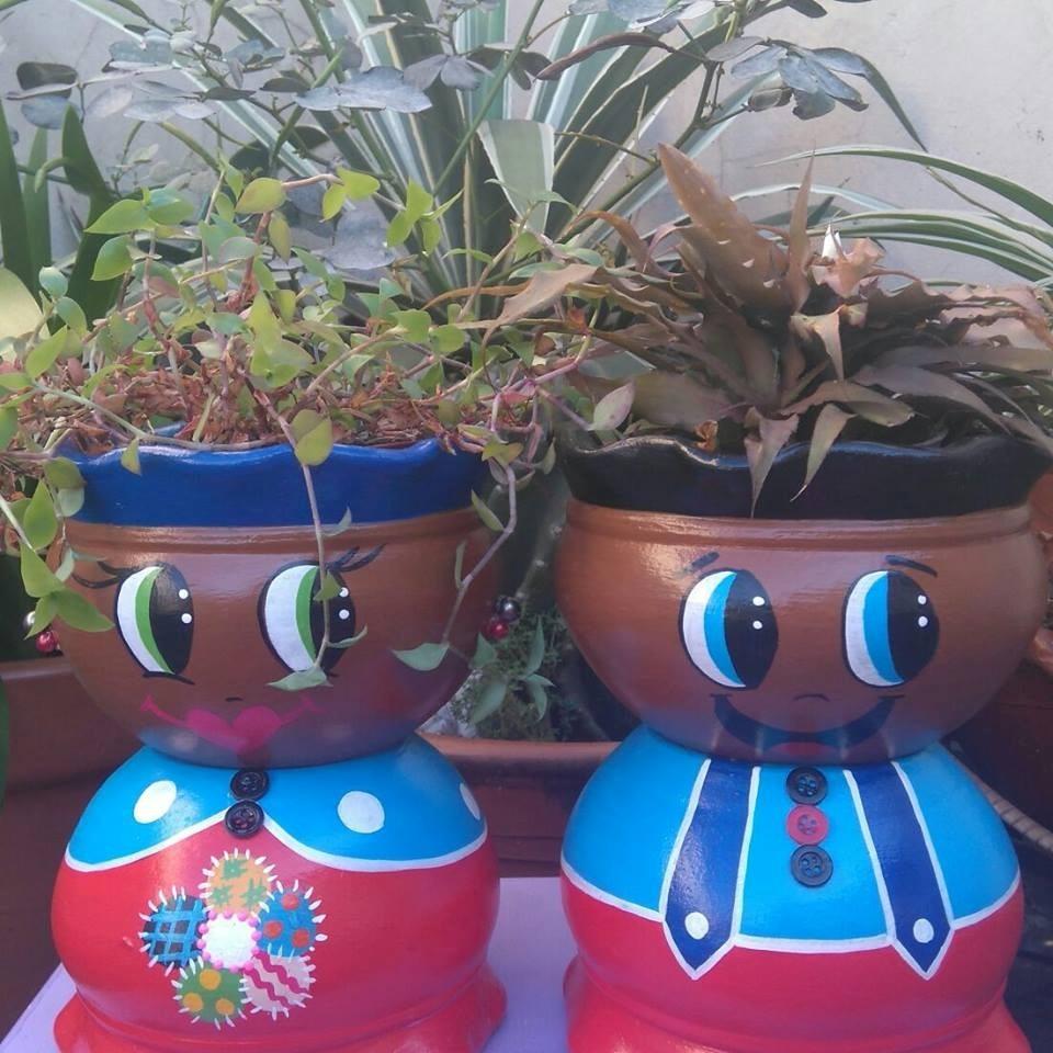 Decora??o Jardim - Cer?mica - Vaso - Enfeite - Boneco - R ...