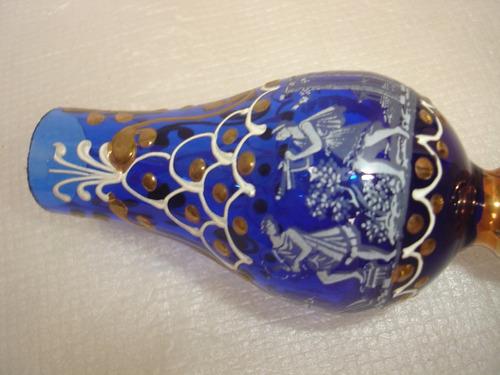 decoração mini jarra vidro pintura detalhe à mão fios ouro