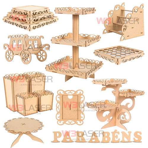 decoração moveis kit provençal festa mdf luxo completo mdf