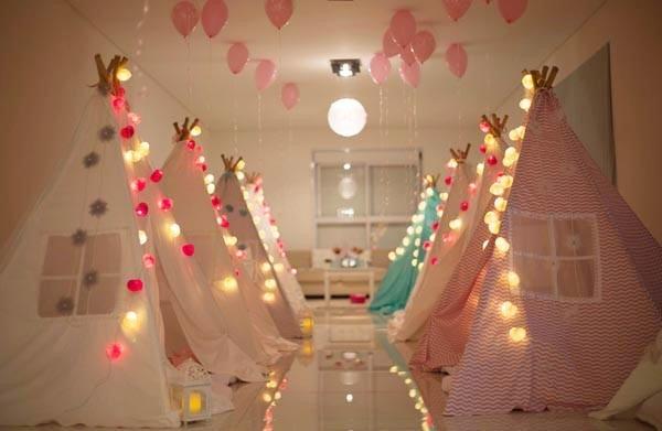 Decora 231 227 O Para Festa De Pijamas Aniversarios Luz De