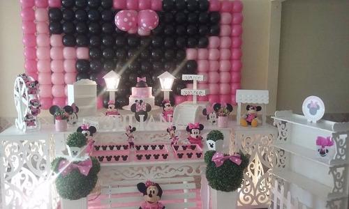 decoração provençal minnie rosa locação