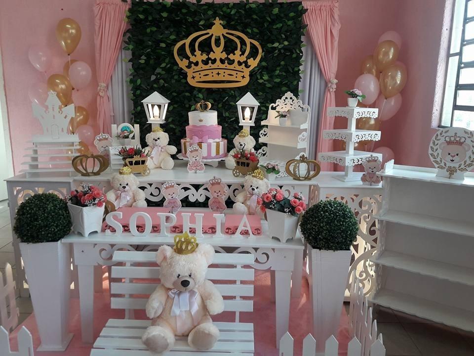 Decoraç u00e3o Provençal Ursinha Princesa Realeza Locaç u00e3o R$ 370,00 em Mercado Livre