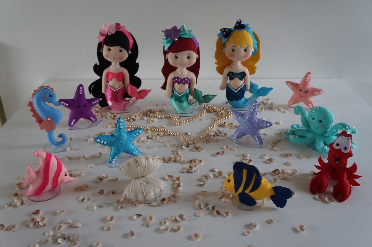 Decoração Sereia Luxo Pequena Sereia Fundo Do Mar Luxo R 36900