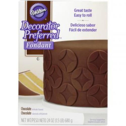 decorador preferido de fondant chocolate 24-oz. wilton