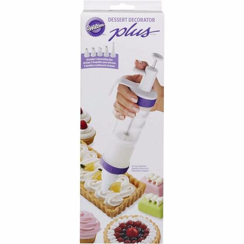 decorador wilton de torta + 5 boquillas + 2 acopladores new