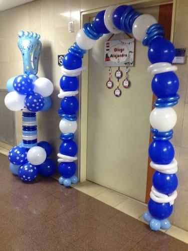 decorar clinica naimiento globo puerta baby shower comunion