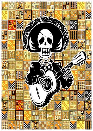 decorar sala mexicana poster 60cmx84cm bar mariachi música
