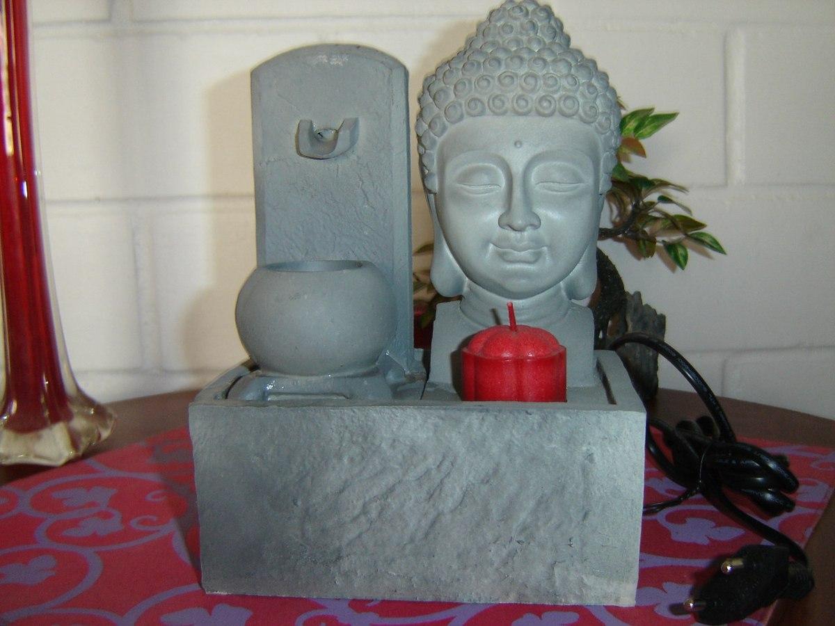Decorativa fuente de agua buda para feng shui atraen - Donde colocar fuentes de agua segun feng shui ...
