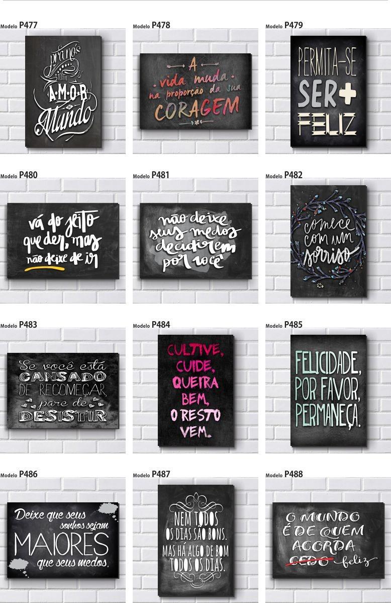 Kit com 5 placas decorativas em mdf frases motivacionais r 49 90 em mercado livre - Placas pared decorativas ...