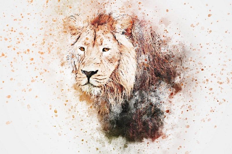 Quadro decorativo abstrato lion leão sala quarto 55x100cm r$ 99 90