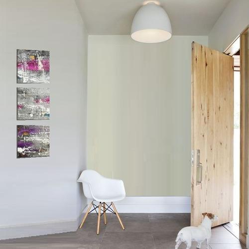 decorativo cuadros sala pintado a mano morado plateado rosa