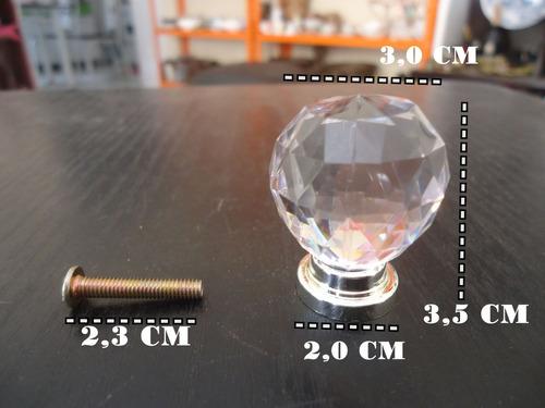 decorativo puxador acrílico cristal incolor