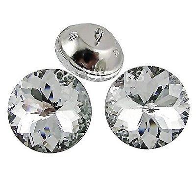 decotacks 1 pulgada [25mm] flor cristal tapicería botones