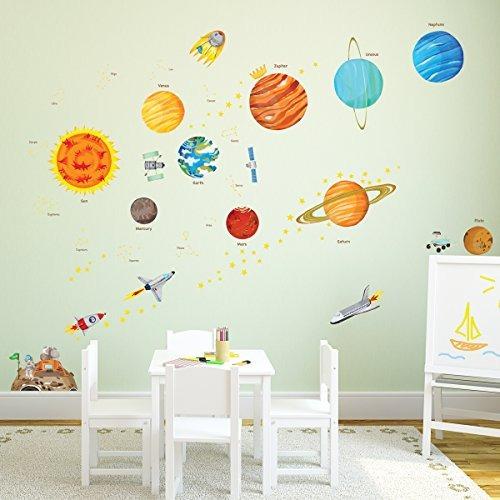 decowall da-1501 el sistema solar peel y stick nursery niños