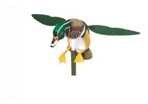 decoy o señuelo pato con alas giratorias mojo caceria patos