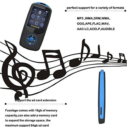 deefec hifi 16gb reproductor de música bluetooth mp3 con rad
